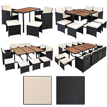 Amazon.de: Estexo® Polyrattan Sitzgruppe für 4 Personen, Farbe