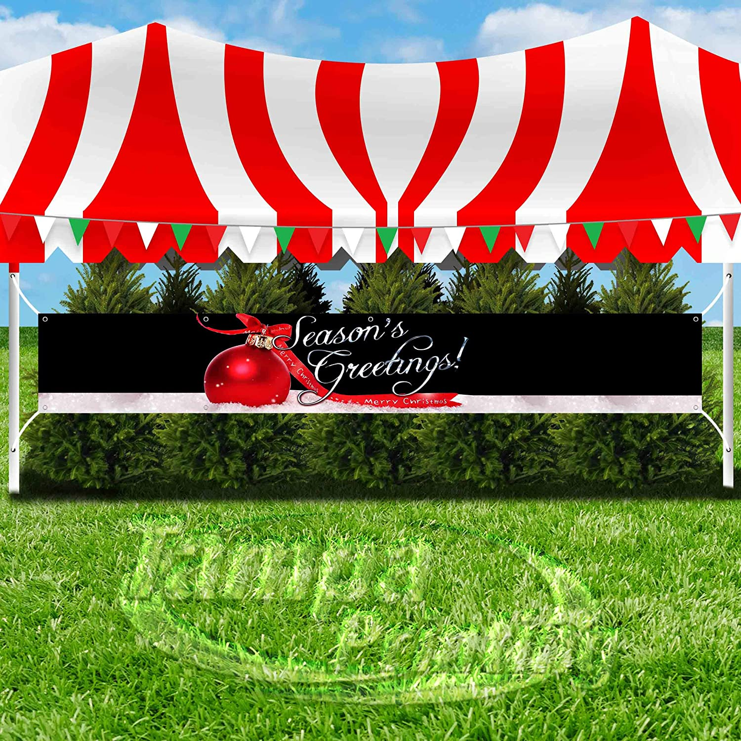 Many Sizes Available Store New Flag, Advertising Seasons Greetings Extra Large 13 oz Heavy Duty Vinyl Banner Sign with Metal Grommets