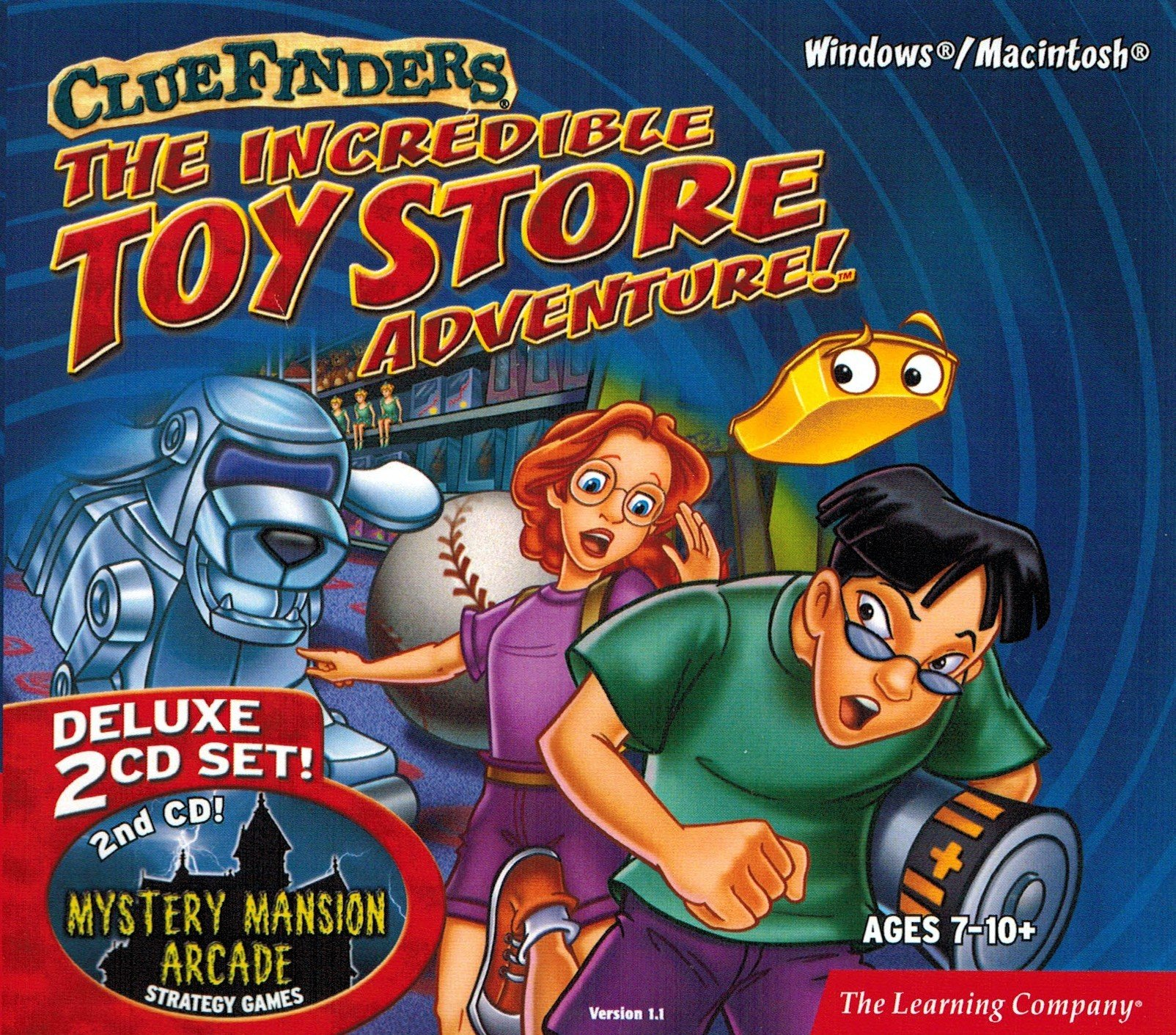 The Learning Company - ClueFinders The Incredible Toy Store Adventure Deluxe (2 CD-ROM Set) by The Learning Company
