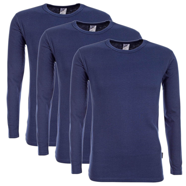 Herren 3er Pack DUO THERM Thermo-Shirt LANGARMSHIRT Winter Ski-Unterwäsche Funktionsshirt Funktionsunterwäsche Funktionswäsche