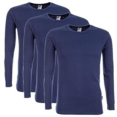 7b7385ad2a Herren 3er Pack Duo Therm Thermo-Shirt Langarmshirt Winter Ski-Unterwäsche  Funktionsshirt Funktionsunterwäsche Funktionswäsche