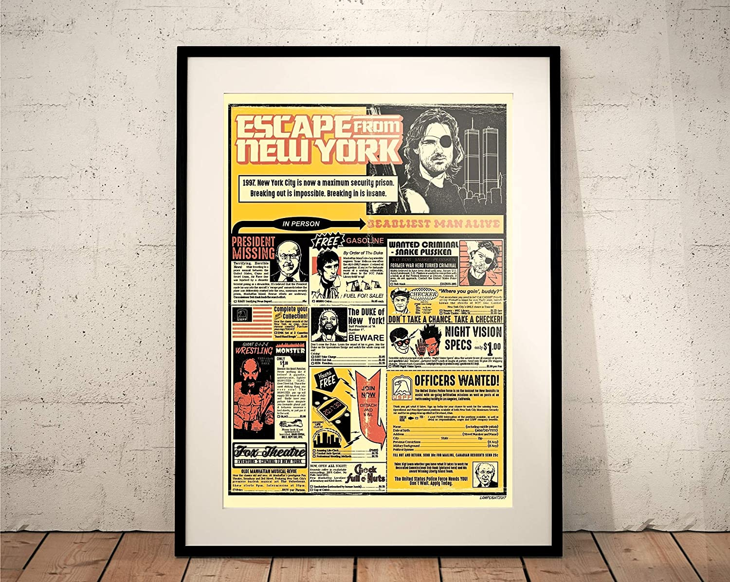 Escape from New York. Limited Edition Print. John Carpenter, Snake Plissken (Prints/Posters)