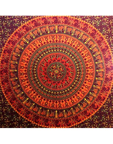 Camel Elephant Mandala Tapestry Hippie Tapestry Mandala Tapestry Wall Hanging Wall Decor Home Decor (Maroon