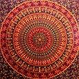 Camel Elephant Mandala Tapestry Hippie Tapestry Mandala Tapestry Wall Hanging Wall Decor Home Decor (Maroon)