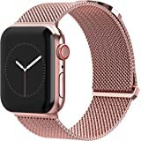 TalkWorks Compatible for Apple Watch Bands 44mm / 42mm for iWatch Series 6, 5, 4, 3, 2, 1, SE - Stainless Steel Mesh Adjustab