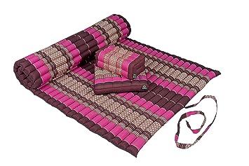 Amazon.com: Kapok Dreams Yoga Futon Set: Kapok Mat (39x78x2 ...