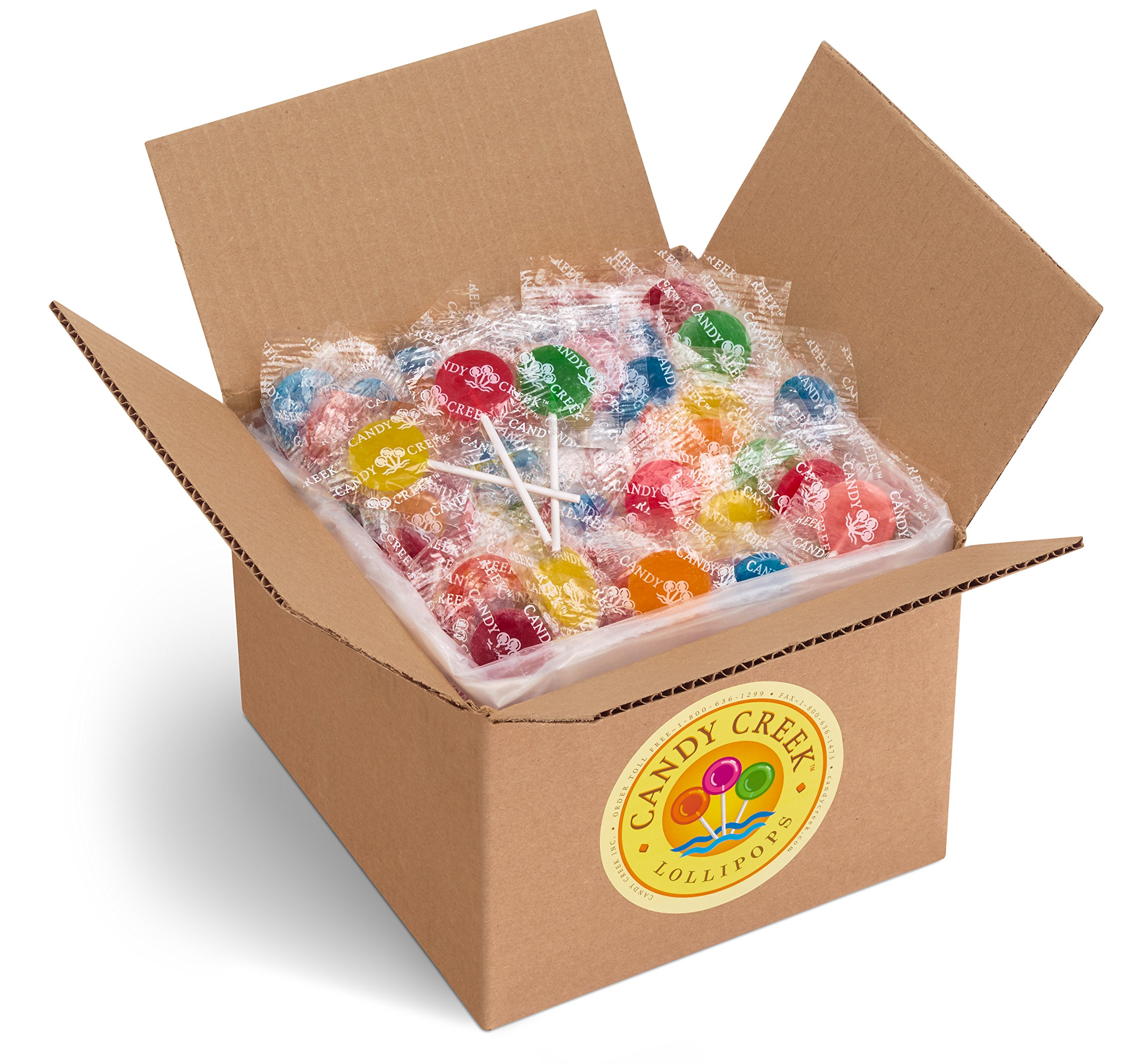 Candy Creek Fruit Lollipops, 5 Pound Carton, Bulk Candy, Assorted Flavors by Candy Creek Lollipops