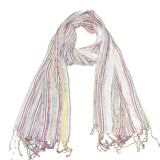 Lovarzi - Bufanda blanca para mujeres - señoras bufanda - perfecto ...