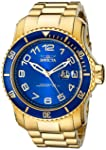 Invicta 15347 Watch Pro Diver Blue and Yellow Gold-Tone Stainless Steel