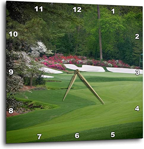 3dRose DPP_131408_2 Augustas Amen Corner Golf Course Where Dreams are Made and Lost Ii Wall Clock, 13 by 13-Inch