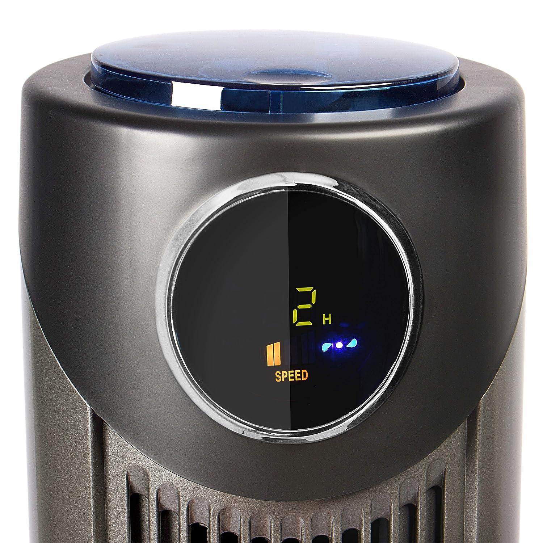 Silenzioso Bianco 3 Livelli di Potenza Oscillazione a 90/° TECVANCE Ventilatore a Torre con Timer
