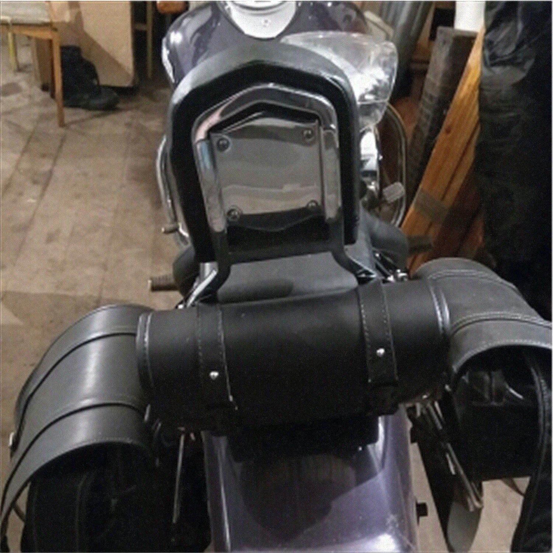 DLLL Universal Black Motorcycle Fork Bag Handlebar Sissy Bar Tool Pouch Roll Barrel Bags for Yamaha Honda Kawasaki Suzuki Ducati KTM Harley Davidson Sportster Softail Dyna