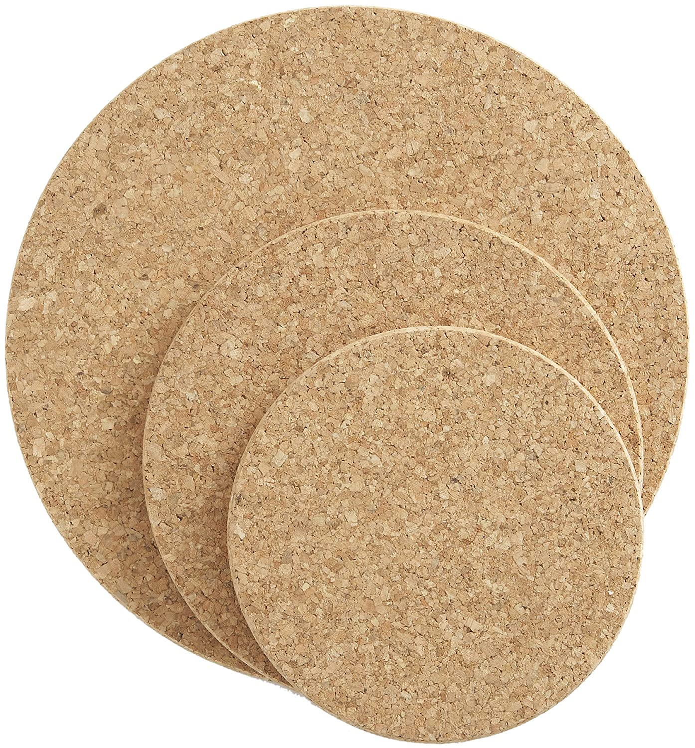 "Jonas Cork Trivets Set of 3 Round - 5½"", 6½"", 9½"" 6½"" 9½"" LINDEN SWEDEN INC"