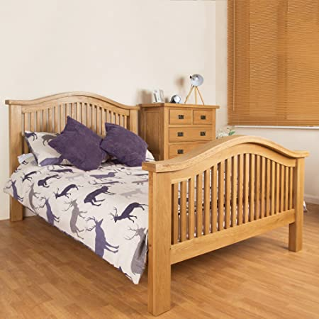 the latest 85a5f 92a3c JTF Mega Discount Warehouse Canterbury Oak Double Bed Curved ...