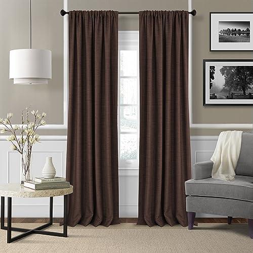 Elrene Home Fashions 26865876079 Rod Pocket Textured Solid Window Curtain Drape Panel
