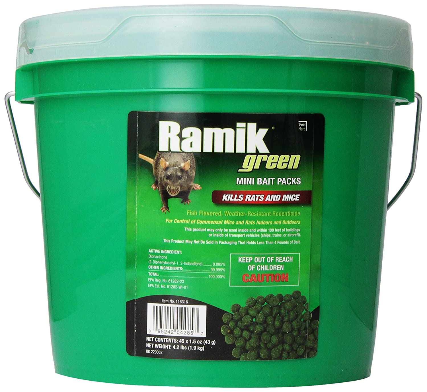 Best Rat Poison  - NEOGEN RODENTICIDE 45-Pack Ramik Rat and Mouse Bait Pail