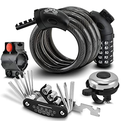 8mm x 5 ft Security Theft NEW Bell Combination Combo Cable Bike Bicycle Lock