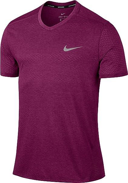 Nike M NK Brthe SS Tailwind CLV Camiseta, Hombre, Morado htr/True Berry
