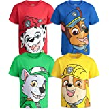 Nickelodeon Paw Patrol Chase Marshall Rocky Rubble 4 Pack Short Sleeve Tees