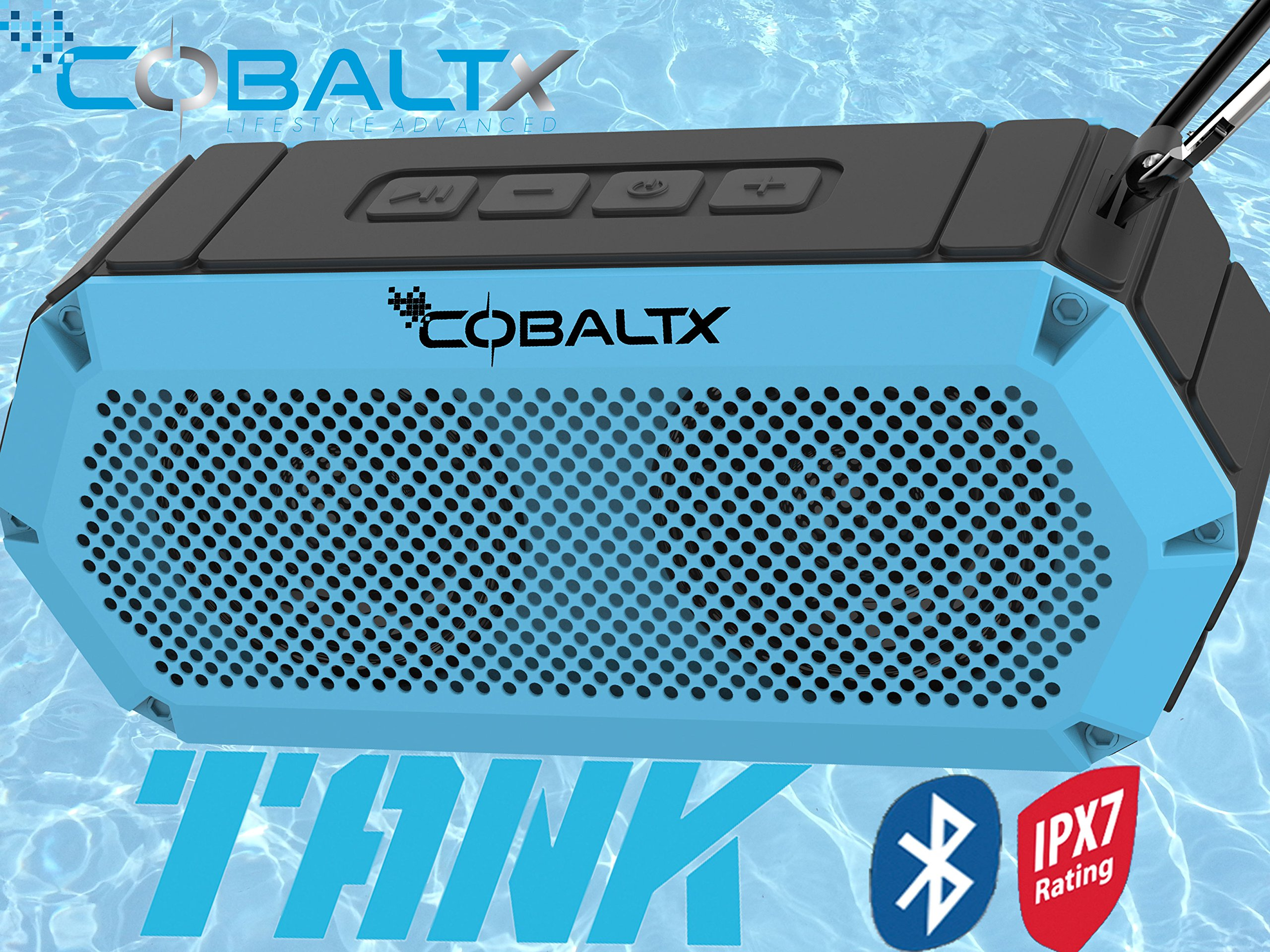 COBALTX Tank Rugged Wireless Bluetooth Speaker iPX7 Rated...