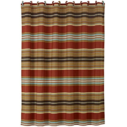 Amazon HiEnd Accents Calhoun Western Shower Curtain 72 X