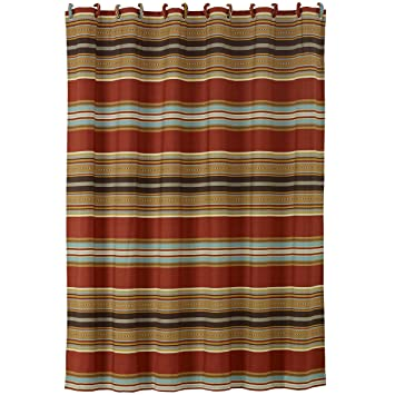 Amazon HiEnd Accents Calhoun Western Shower Curtain 72 X Home Kitchen