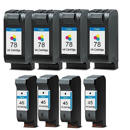 8 Cartuchos de impresora compatible para HP 45 78: Amazon.es ...