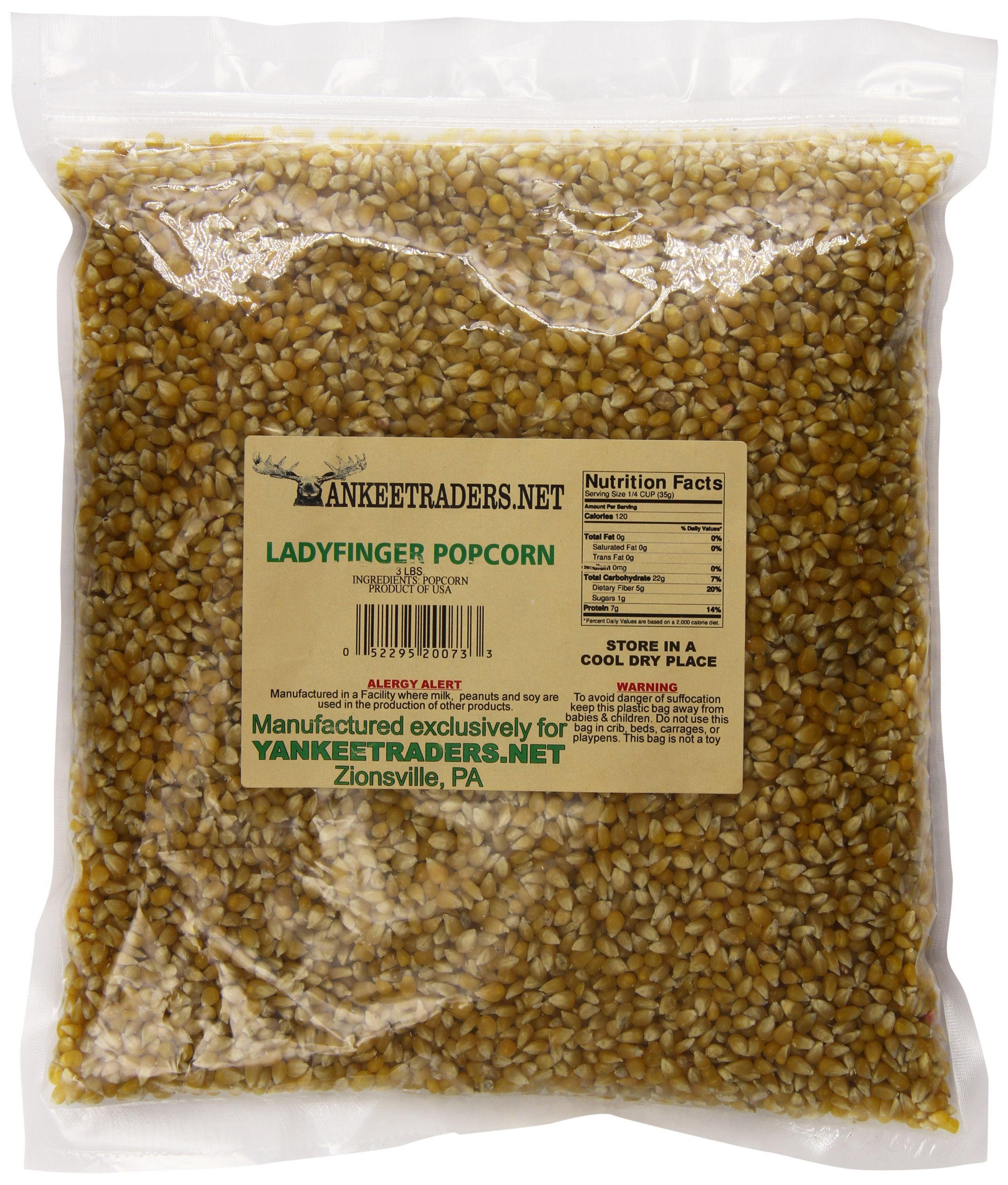 Yankee Traders Lady Finger Popcorn, 3 Pound by YANKEETRADERS