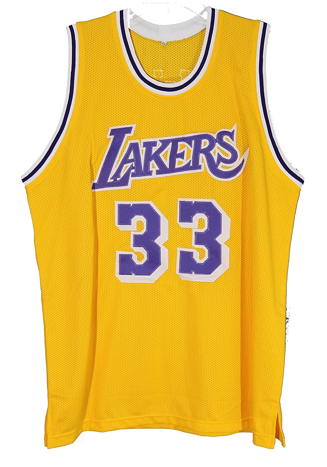 db509511c Kareem Abdul Jabbar Los Angeles Lakers Signed Autographed Yellow  33 Custom Jersey  at Amazon s Sports Collectibles Store