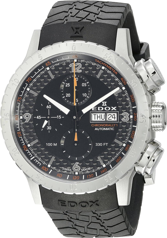 Edox Chronorally 1 Reloj de Hombre automático 45mm Correa de Goma 01118 3 NO