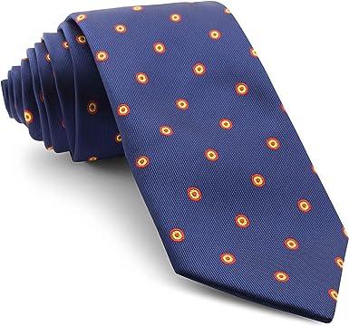 Cencibel Smart Casual Corbata Círculos Bandera de España Escarapela: Amazon.es: Ropa y accesorios