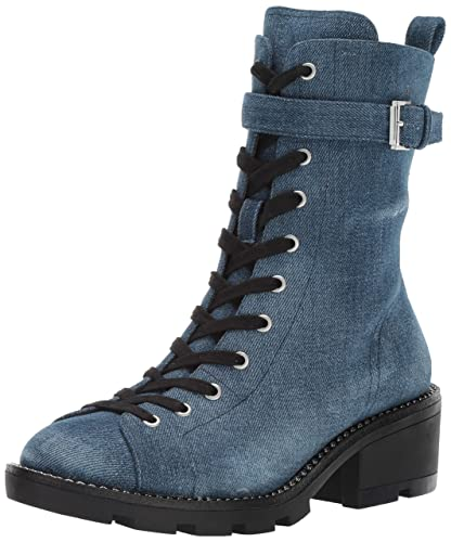 fefeb6fa9 KENDALL + KYLIE Women's Prime Ankle Boot, Dark Blue Fabric, 6 M US