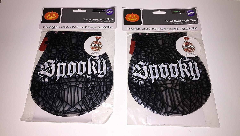 Spooky Halloween Bolsas de regalo con bridas: Amazon.com ...