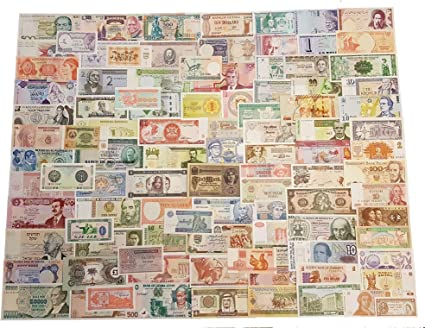 Lot 100 Pcs Different Banknotes World Paper Money Collections Real Original UNC