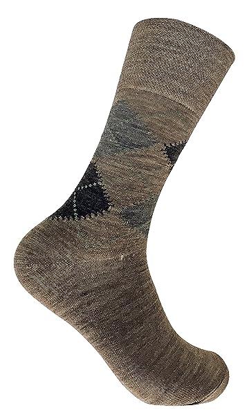 Sock Snob 3 pares hombre invierno gruesos lana sin elasticos calcetines en marrón y gris (39-45 eur, SE049 Brown): Amazon.es: Ropa y accesorios