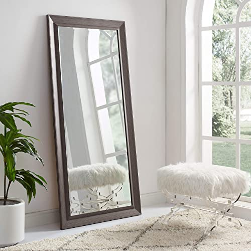 Naomi Home Framed Bevel Leaner Mirror Espresso/66 x 32″