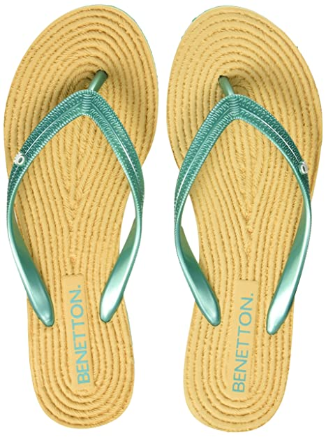 United Colors of Benetton Women's Flip-Flops Flip-Flops & House Slippers at amazon