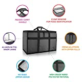 BlueVoy Insulated Food Delivery Bag - Premium Large Commercial Catering Bag for Food Transport - Hot and Cold Thermal Insulated Food Carrier with YKK No Snag Zippers - Ultra Durable Polyester Material