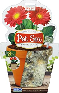 Misco Home and Garden Marbled Stone Pot Sox Flowerpot Cover, 8-Inch, Multicolored