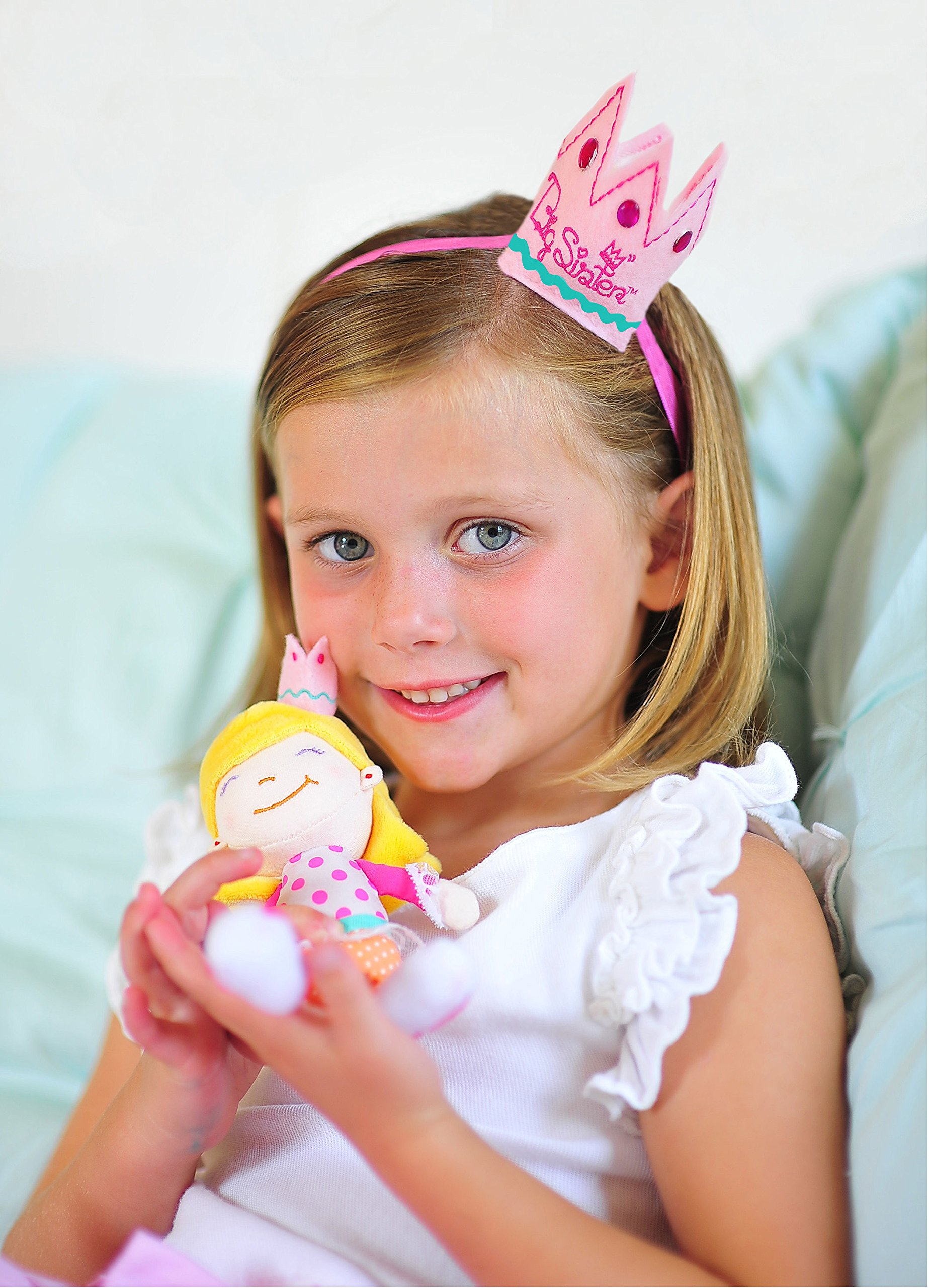 Tickle & Main Big Sister Gift Set- I Hereby Crown You Big Sister Book, Doll, and Child Size Crown by Tickle & Main (Image #2)