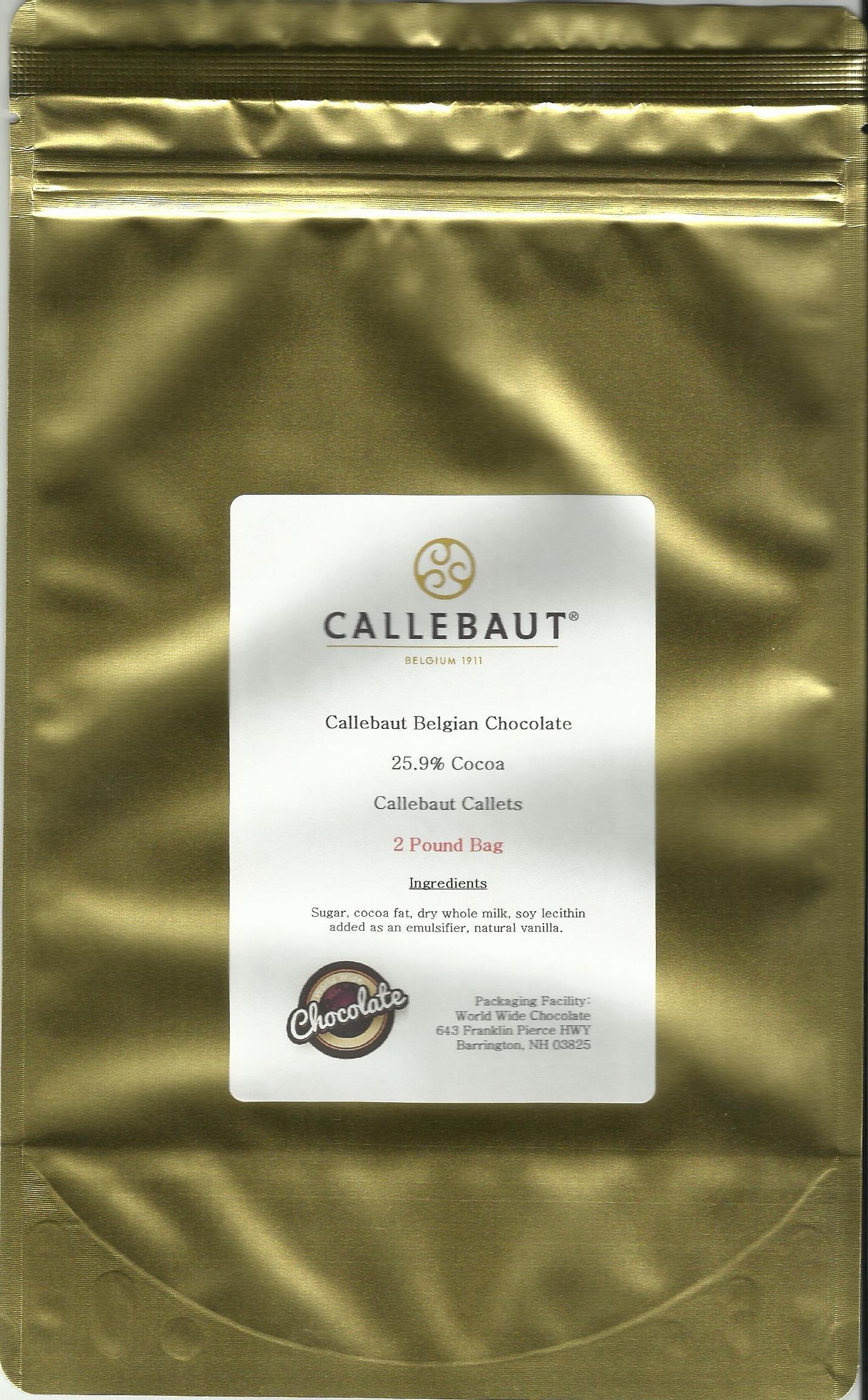 Callebaut White Callets 25.9 %  (2 lb)