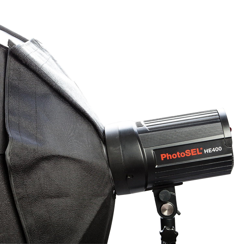PhotoSEL SBSC170BE Ventana Difusora de Luz Softbox Octogonal para Iluminaci/ón Fotogr/áfica de 170cm con Rejilla de Nido de Abeja para Flash de Estudio PhotoSEL//Bowens Montaje de Tipo S