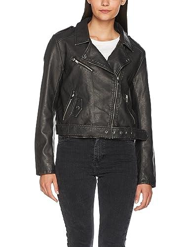 Only Onlluna Crop Faux Leather Biker Otw Noos, Chaqueta para Mujer