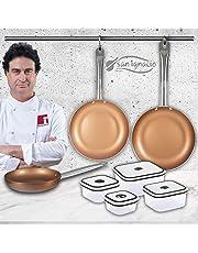 San Ignacio Copper Plus Set de 3 sartenes