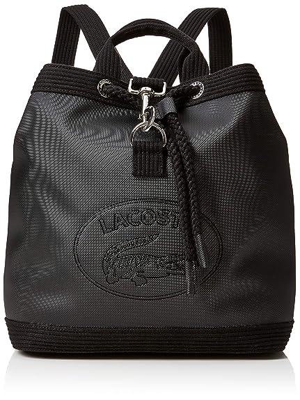 ef7f41197e Lacoste Nf2629wm, Women's Backpack, Black (Black Black), 13x29x28 cm (W x H  L): Amazon.co.uk: Shoes & Bags