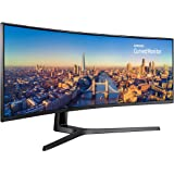 Samsung C49J890 Monitor Business Curvo VA 49'', Ultrawide 32:9, Full HD, 3840x1080, 144 Hz, 4 ms, 1 HDMI 2.0, 1 Display Port, 1 Mini Display Port, 2 USB Type-C, KVM, Cavo DP e USB Type-C, Nero