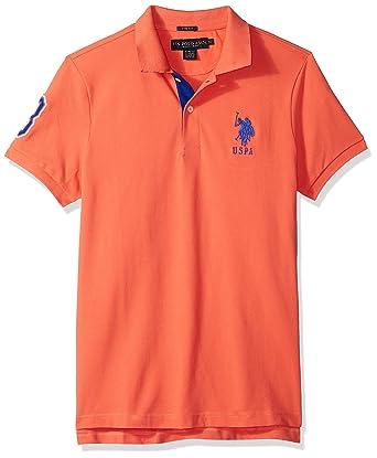 U.S. Polo Assn. Hombres Manga Corta Camisa Polo - Rojo - Small ...