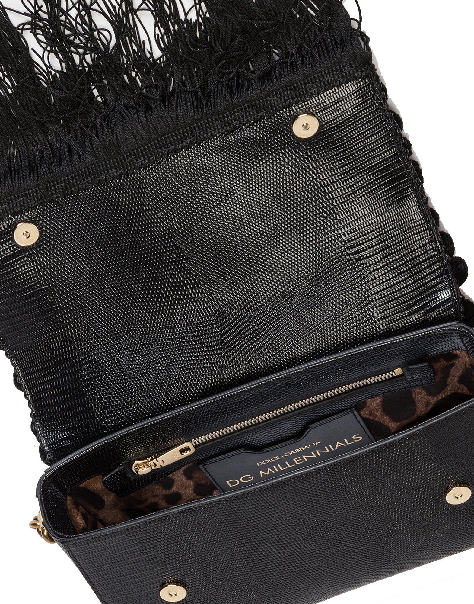 Dolce E Gabbana Women's Bb6393as9038b956 Black Leather Shoulder Bag by Dolce e Gabbana (Image #4)