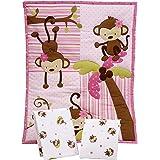 Little Bedding by NoJo 3 Piece Little Monkeys Portable Crib Bedding Set