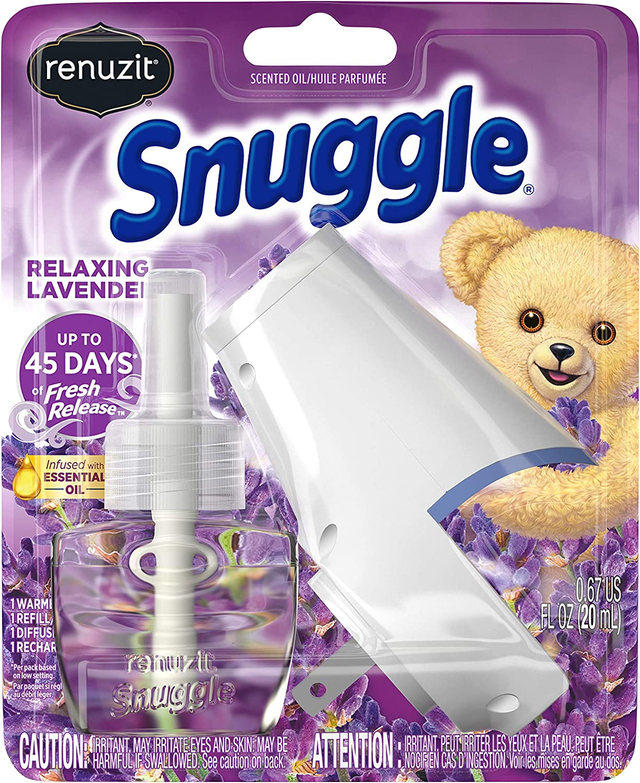 Renuzit Snuggle Scented Oil Refill Air Freshener & Plugin Warmer, Relaxing Lavender, 0.67 Fl Oz (Pack of 1) (2405476)